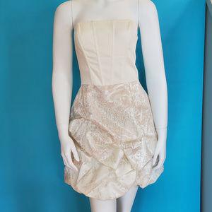 Jessica McClintock for Gunne Sax Ivory Party Dress